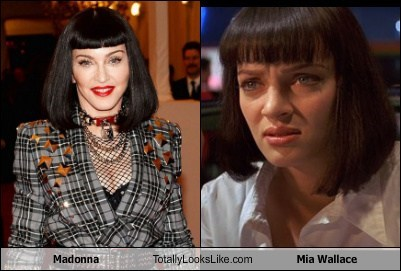 mia wallace,totally looks like,Madonna,funny