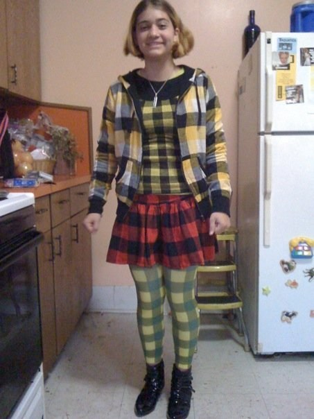 Well Thank Goodness She Didn't Mix Plaids And Stripes