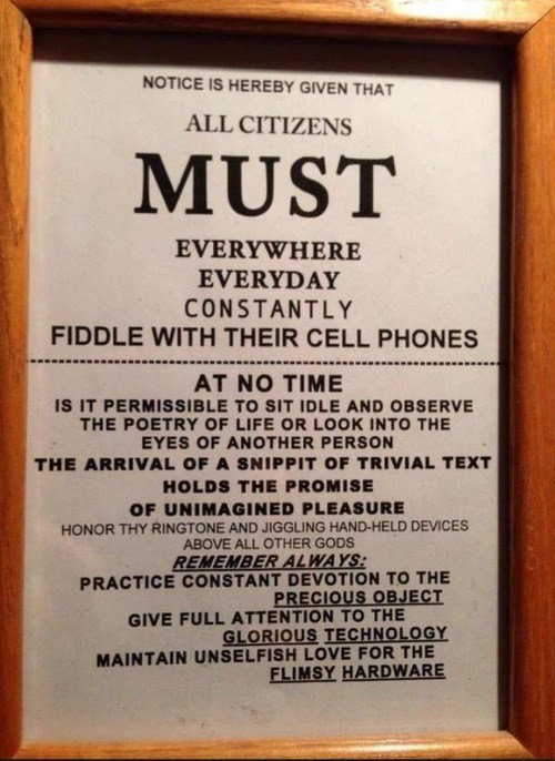 phones,IRL,signs,pay attention,funny,g rated,AutocoWrecks