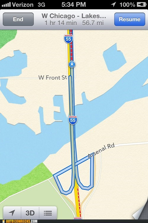 Ok Apple Maps, Now You're Just Being a D*ck