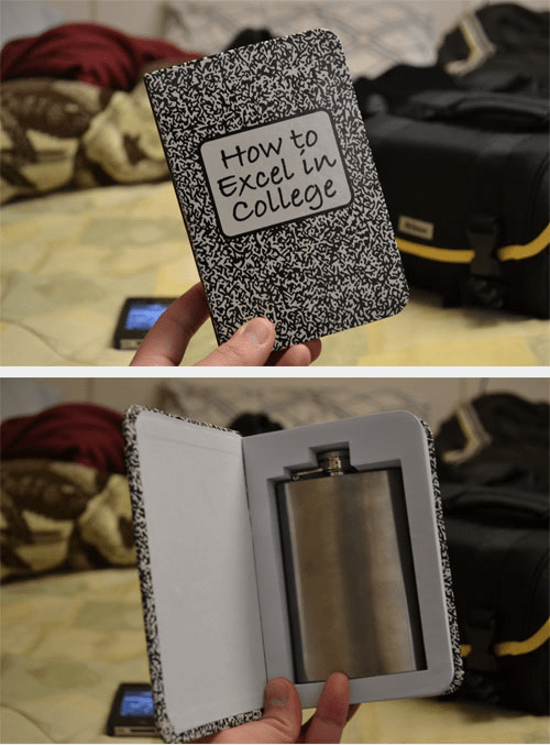 good idea,flask,book,funny,college,after 12,g rated