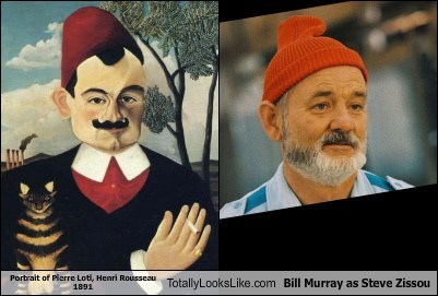 Portrait of Pierre Loti, Henri Rousseau 1891 Totally Looks Like Bill Murray as Steve Zissou