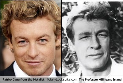 Patrick Jane from the Metalist Totally Looks Like The Professor -Gilligans Island