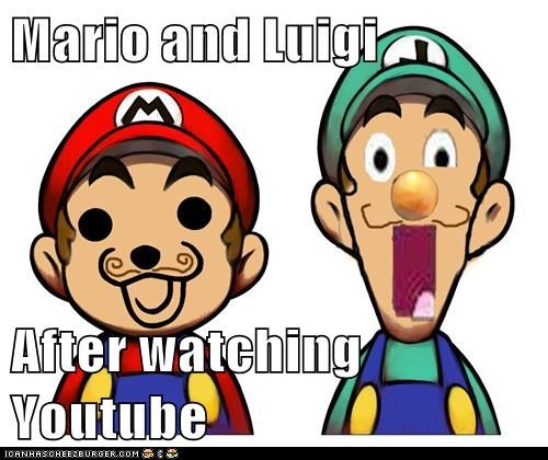 Mario and Luigi  After watching Youtube