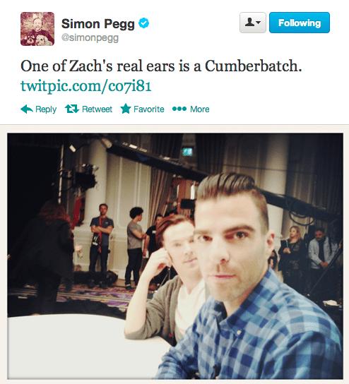 benedict cumberbatch,twitter,Zachary Quinto