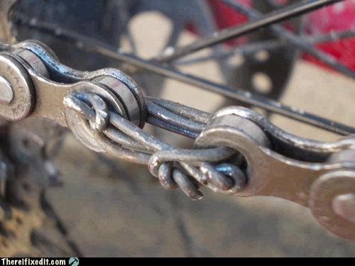 Ugly bicycle chain hack pic