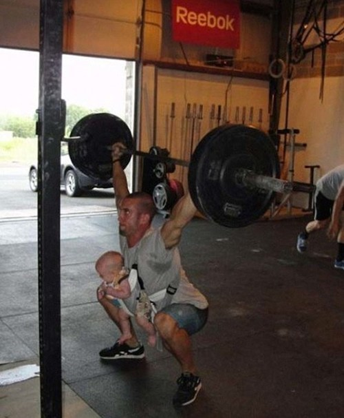 Bulking Up To Keep His Child Safe From Harm