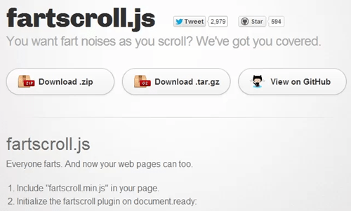 Nice App of the Day: Fartscroll.js