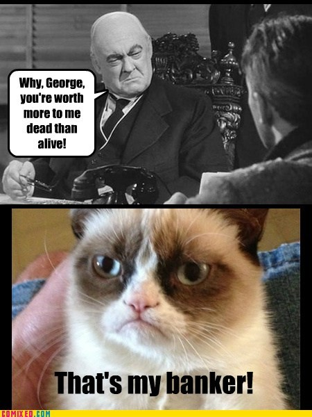 Mr. Potter totally looks like Grumpy!