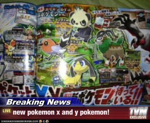Breaking News - new pokemon x and y pokemon!