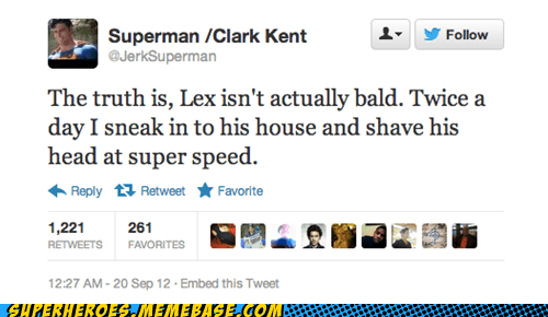 twitter,lex luthor,superman