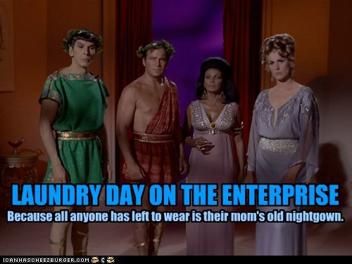 LAUNDRY DAY ON THE ENTERPRISE