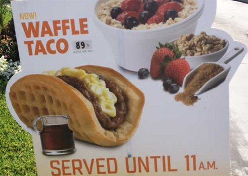 Taco Bell Rolls out a Waffle Taco, Ruining (Improving?) Breakfast Forever