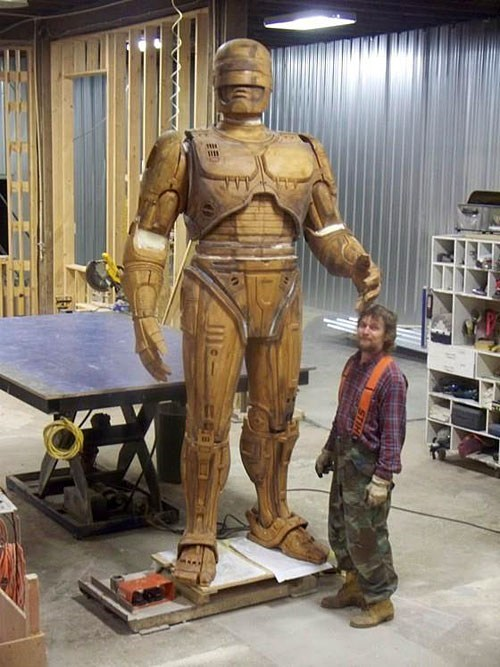 Detroit's Robocop Statue is Very Real and Ready to be Bronzed