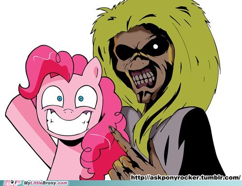 Eddie the head with Pinki Pie