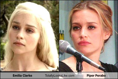 Emilia Clarke Totally Looks Like Piper Perabo