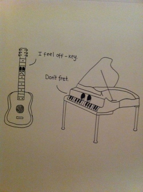 guitar,Music,piano,puns,funny