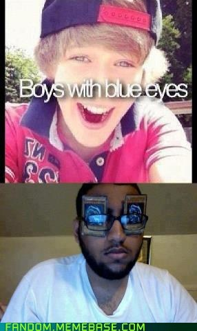 When boys have blue eyes.