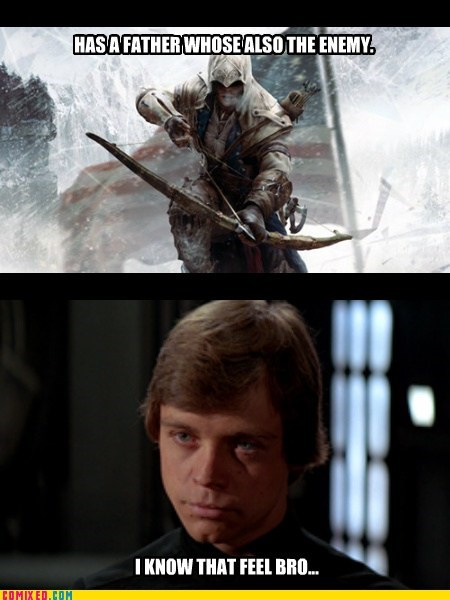 dads,star wars,luke skywalker,assassins creed,funny