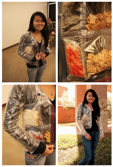 DIY Craftsmanship of the Day: Ziploc Bag Jacket for Snacking on the Go