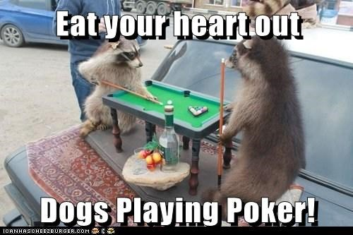 Eat your heart out  Dogs Playing Poker!