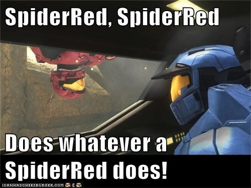SpiderRed, SpiderRed  Does whatever a SpiderRed does!