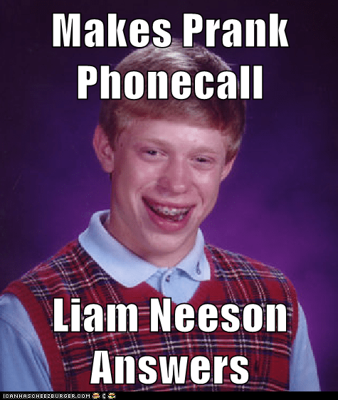 Makes Prank Phonecall  Liam Neeson Answers