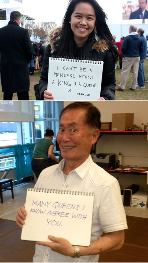 gay marriage,response,funny,george takei,dating