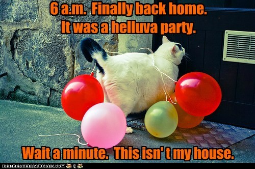 6 a.m.  Finally back home.   It was a helluva party.