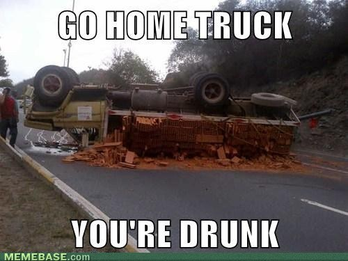 This truck had one too many...