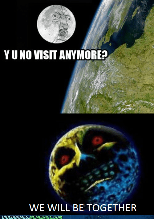 moon,the earth,majoras mask,zelda,funny
