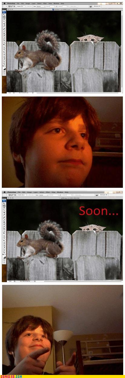 kid,SOON,squirrels,aw yeah,funny