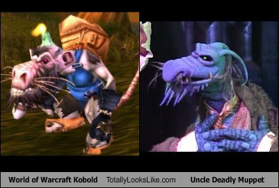 world of warcraft,kobolds,uncle deadly muppet,totally looks like,funny