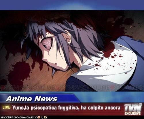 Anime News - Yuno,la psicopatica fuggitiva, ha colpito ancora
