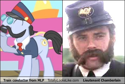 Train conductor from MLP Totally Looks Like Lieutenant Chamberlain