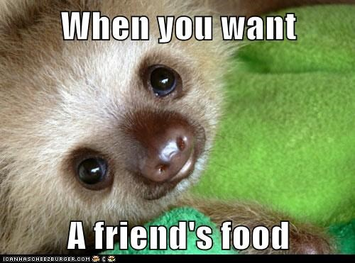 When you want  A friend's food