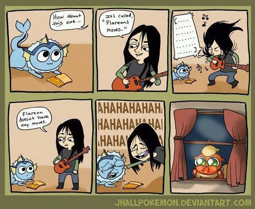 Pokémon,eeveelutions,comics,movesets,flareon,funny