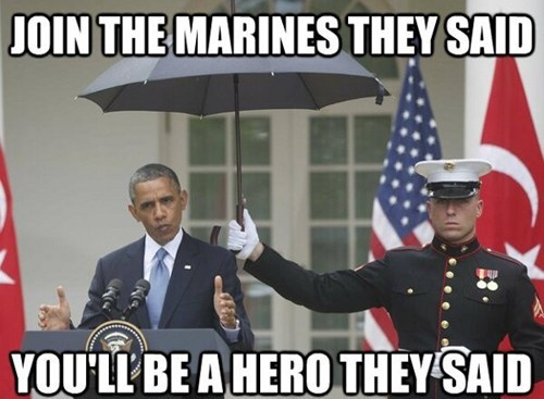 He Just Holds the President's Umbrella-ella-ella-ey-ey-ey