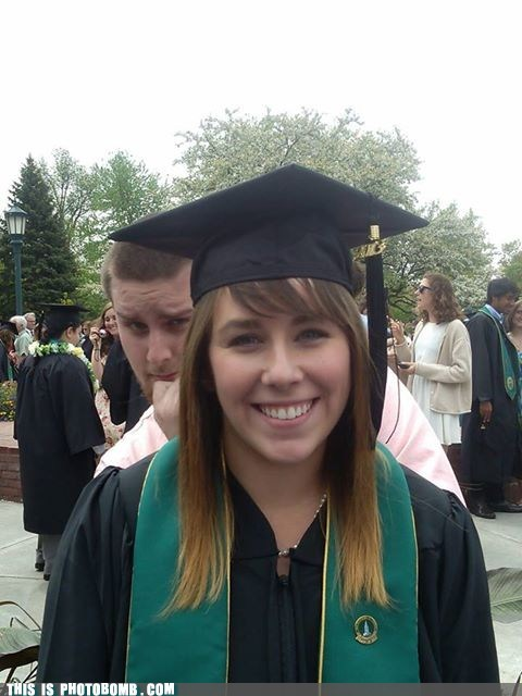 photobomb,graduation,siblings,funny