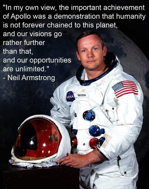 Neil Armstrong Was a True Believer in Humanity