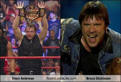 Dean Ambrose Totally Looks Like Bruce Dickinson