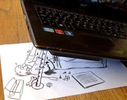 mechanic,laptop,funny