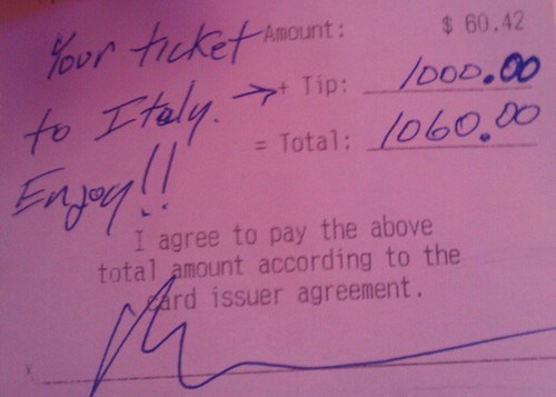 The Nicest Tipper Ever?