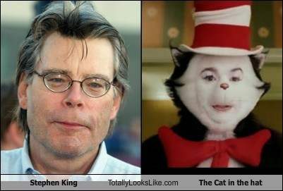 Stephen King Totally Looks Like The Cat in the Hat