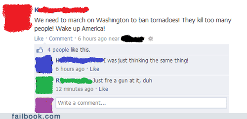 And While We're At It, Let's Ban Hurricanes and Earthquakes, too!