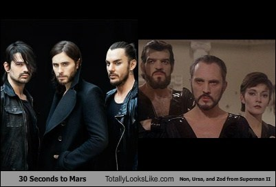 30 Seconds to Mars Totally Looks Like Non, Ursa, and Zod from Superman II
