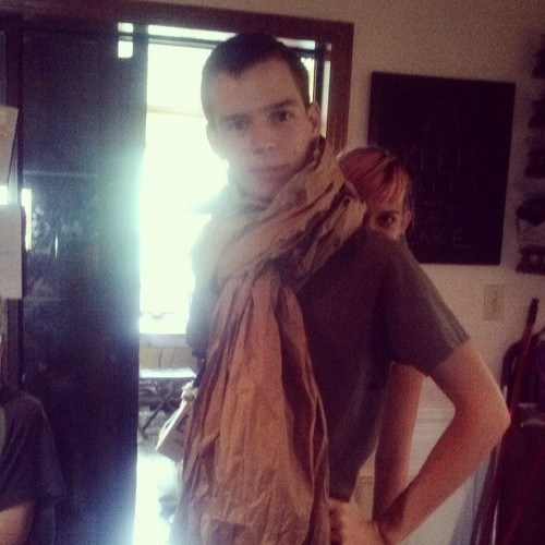 She Really Goes With the Scarf