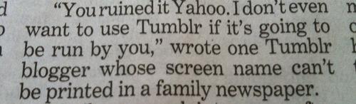 tumblr,print media,yahoo,funny,newspaper