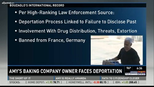 Didn't See That Coming of the Day: Amy's Baking Company Owner Might Get Deported