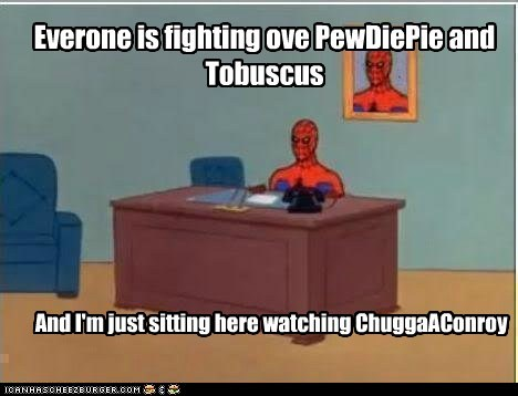 Everone is fighting ove PewDiePie and Tobuscus